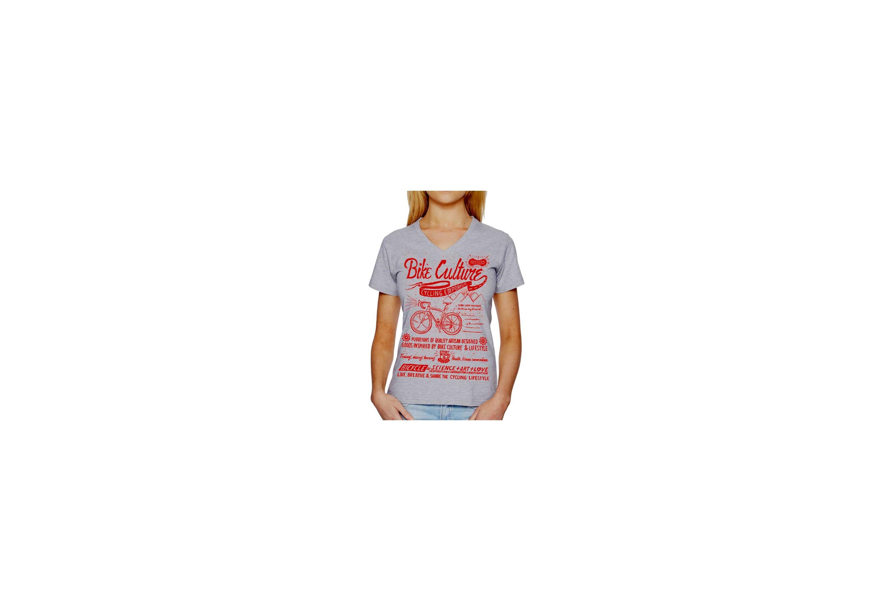 tee-shirt BIKE CULTURE - femme - gris