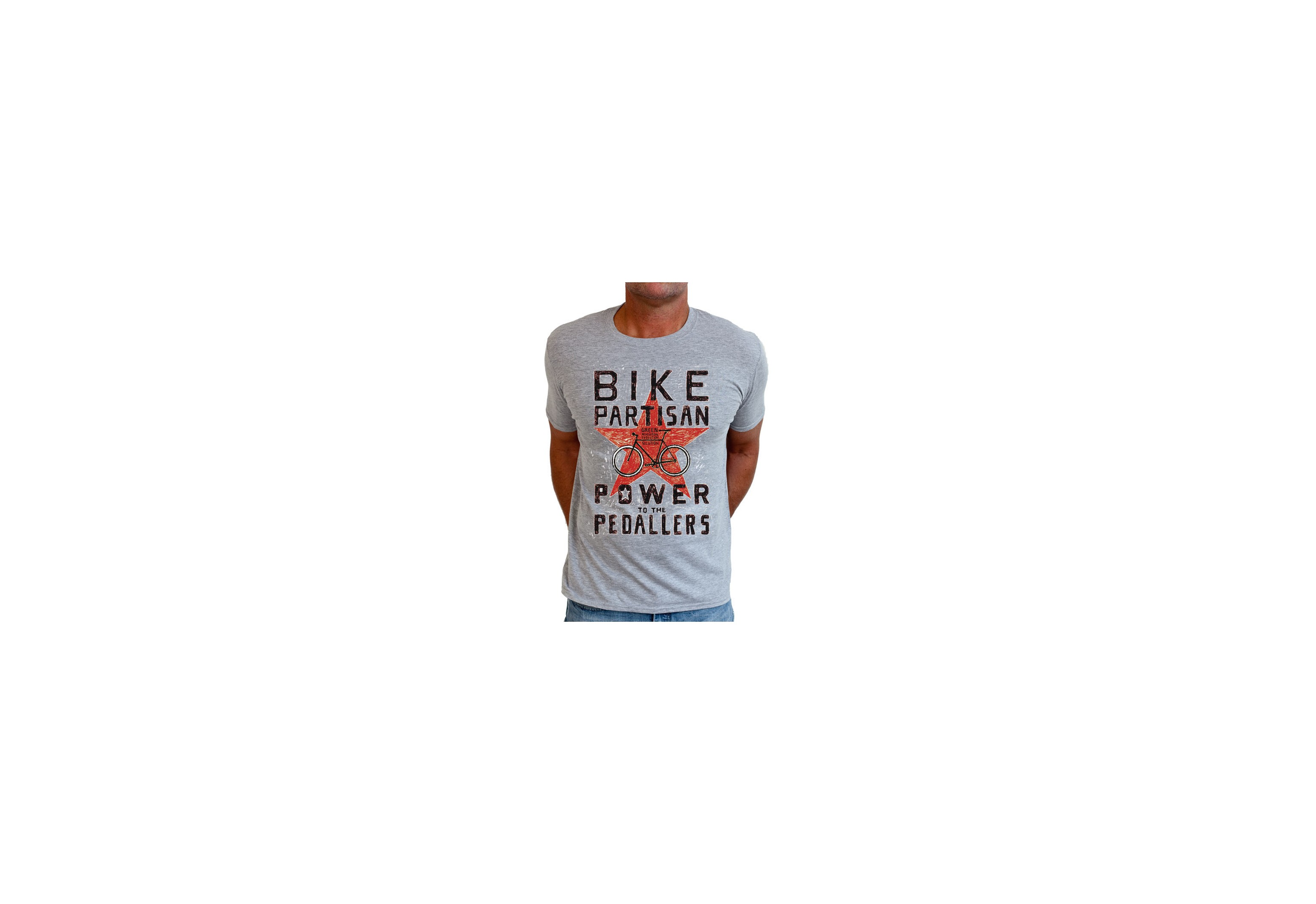 tee-shirt BIKE PARTISAN - homme - gris