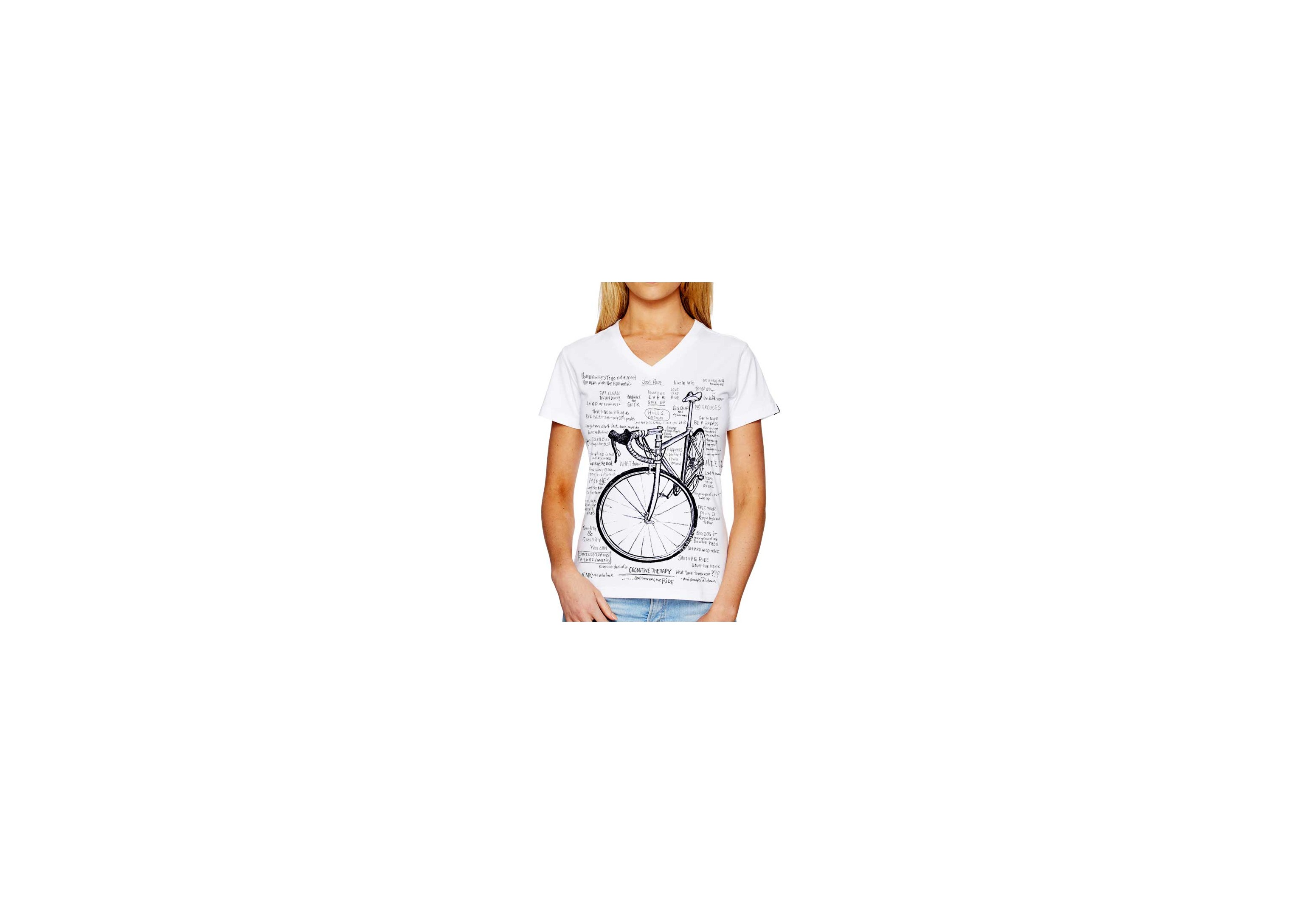 tee-shirt COGNITIVE THERAPY - femme - blanc 01a1f1b4eb2e