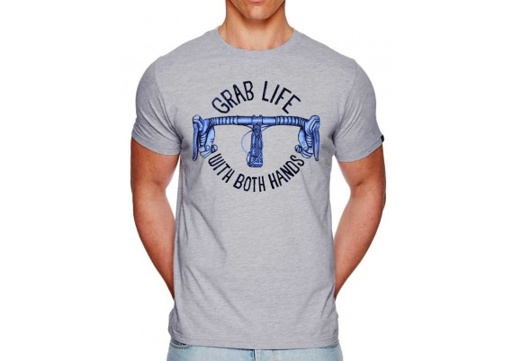tee-shirt GRAB LIFE - homme - gris