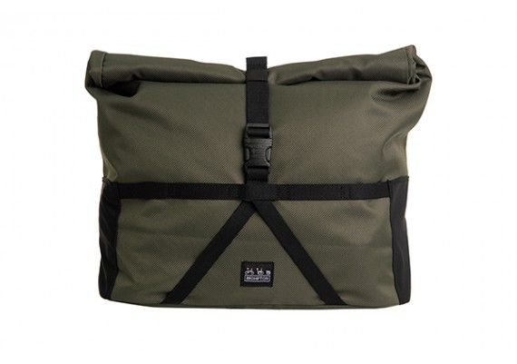 Sacoche Brompton Borough Roll Top bag Olive Medium