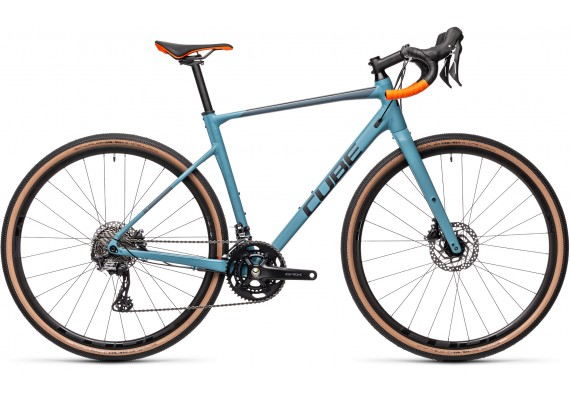 "CUBE NUROAD RACE GREY BLUE'N""ORANGE 2021"
