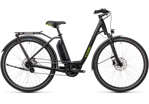 CUBE TOWN HYBRID ONE 500 BLACK'N'GREEN 2021