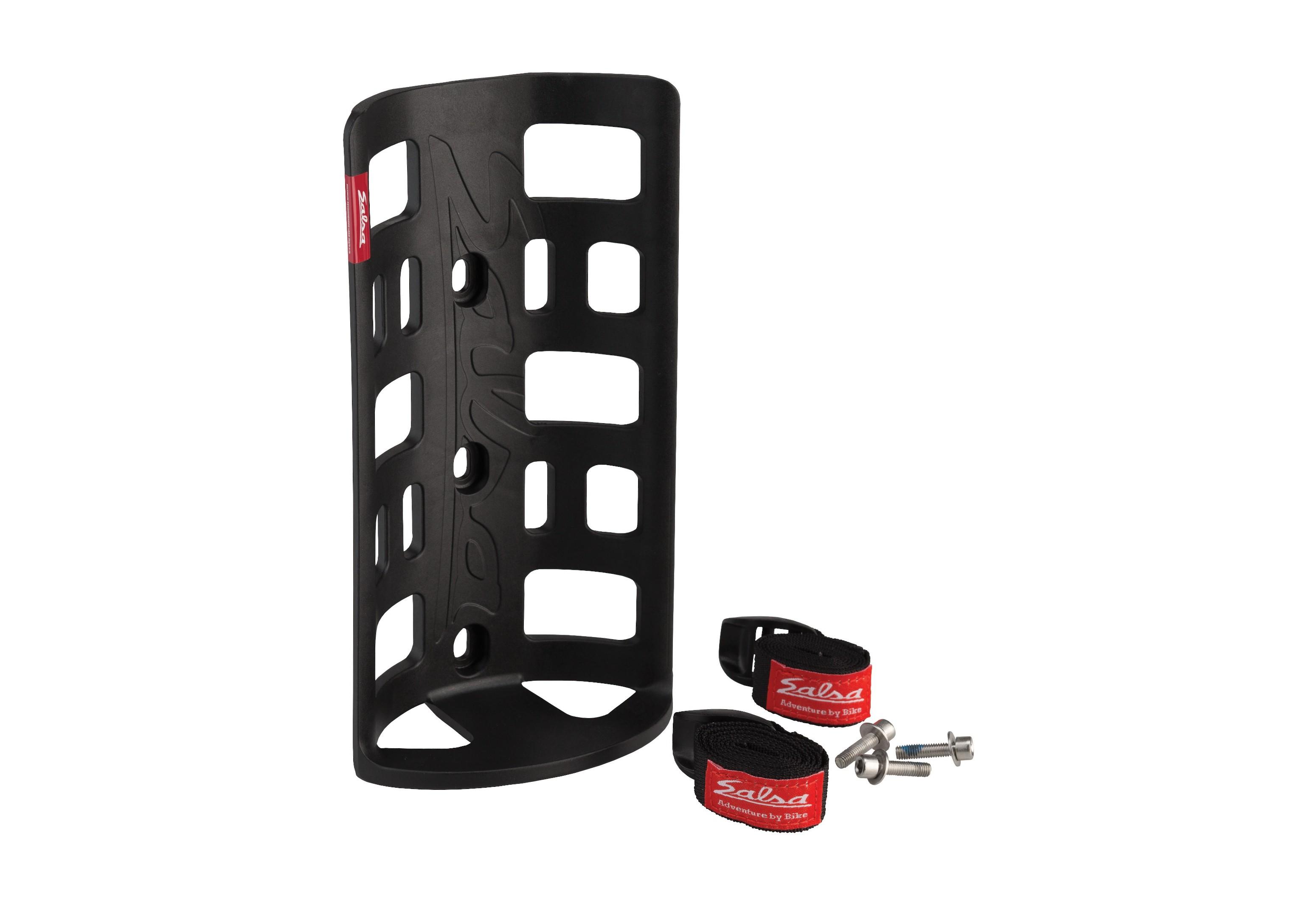 Salsa ANYTHING CAGE HD Rack black nylon avec Straps